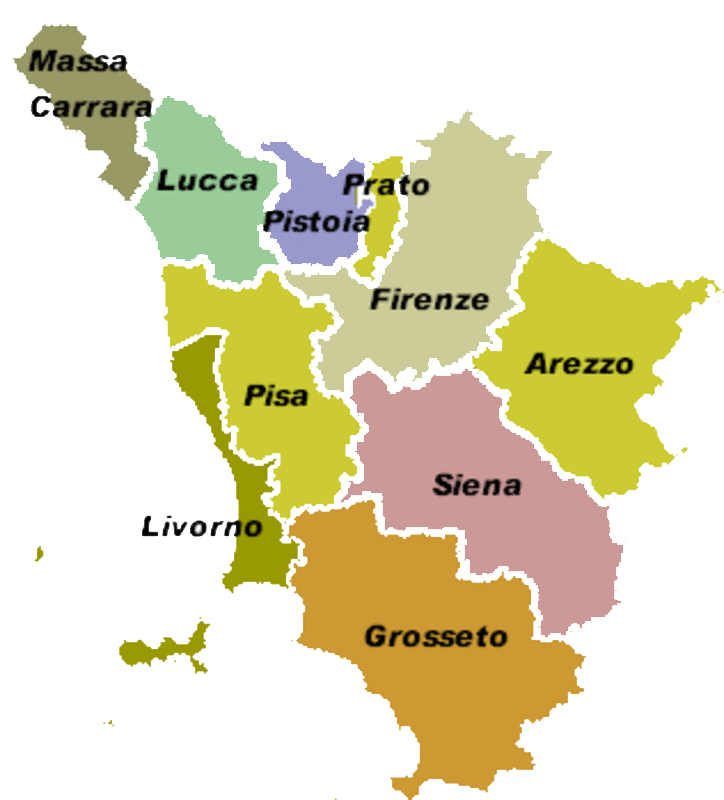 Fiumi Toscana Cartina.Hydrogrphy Fiumi Arno Ombrone Serchio Laghi Viareggio